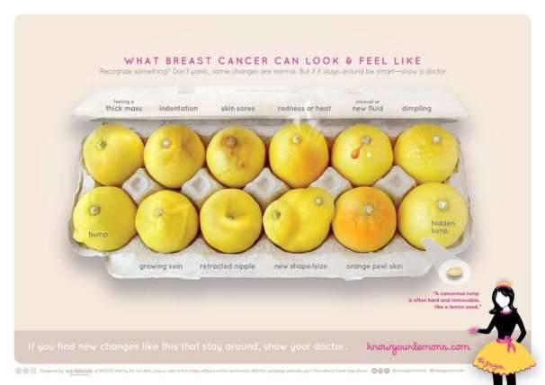 Tumore al seno, campagna di sensibilizzazione con i limoni