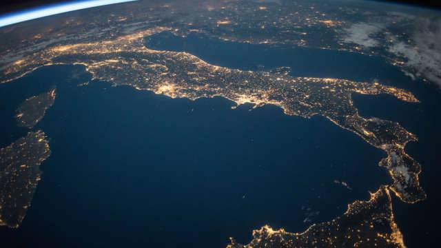 L'italia vista dalla stazione spaziale