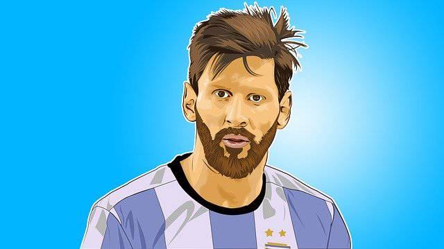 Lionel Messi campione di calcio del Barcellona