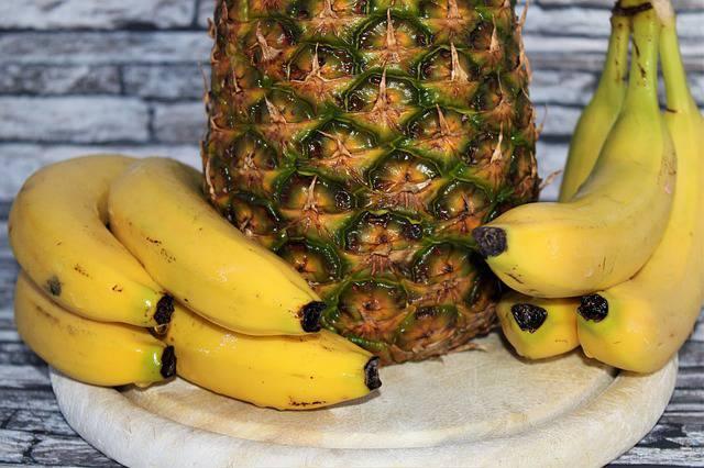 Frullato di ananas e banana