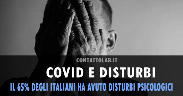 COVID 19: 65% degli italiani ha avuto disturbi psicologici