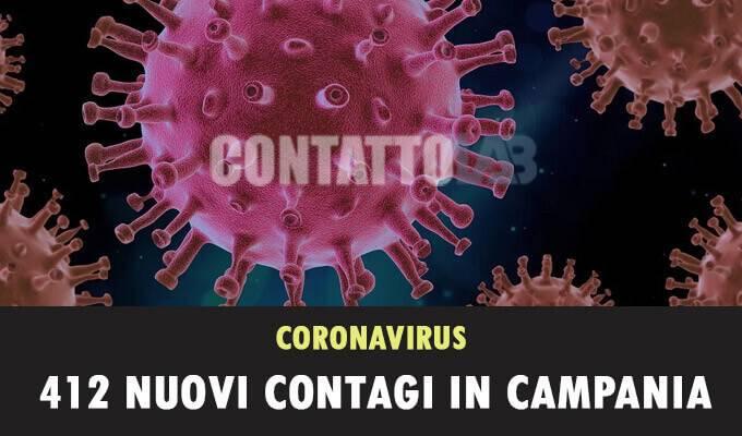 Emergenza Covid:la Campania conta ancora numeri elevati, 412 nuovi positivi