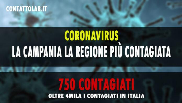 Impennata di contagi in Italia. 4458 nuovi casi. Campania la regione più colpita